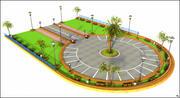Parking Square 3d model