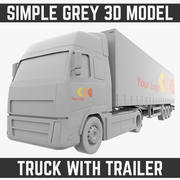 Truck with Trailer 3d model