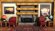Fire Place Room 3d model