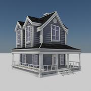 農家住宅-漫画カントリーファームハウス1 3d model