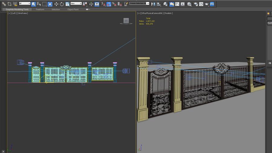 Fence Gate Cast 002 3d Model 15 Max Obj Fbx 3ds Free3d