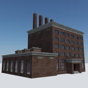 Old Industrial Steam Factory - Abandoned Building 3d model