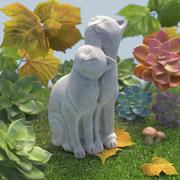Glückliches Paar Katzen 3d model