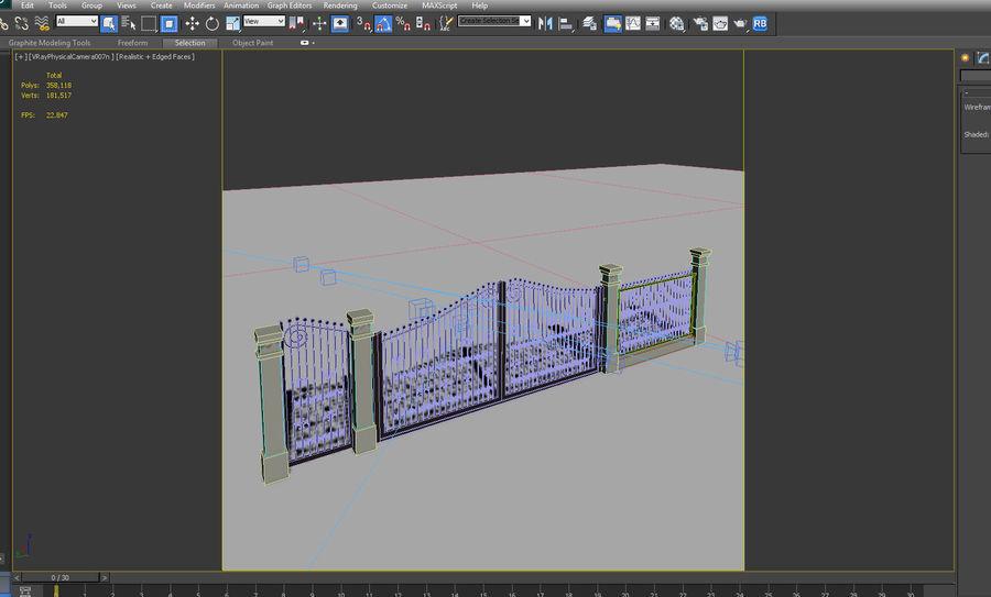 Fence Cast 03 3d Model 12 Obj Max Fbx 3ds Free3d