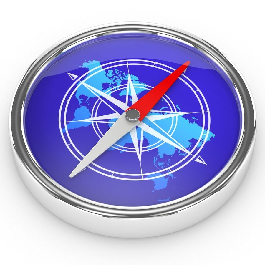 Kompass royalty-free 3d model - Preview no. 2