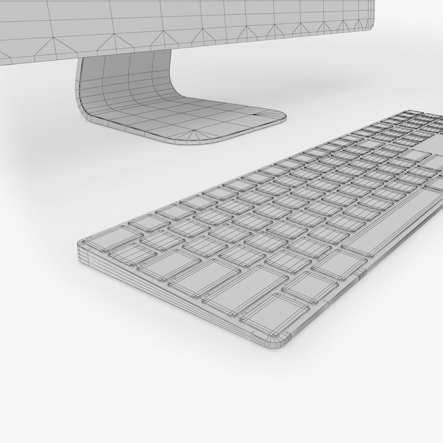 iMac Pro 27英寸2017年套装 royalty-free 3d model - Preview no. 19