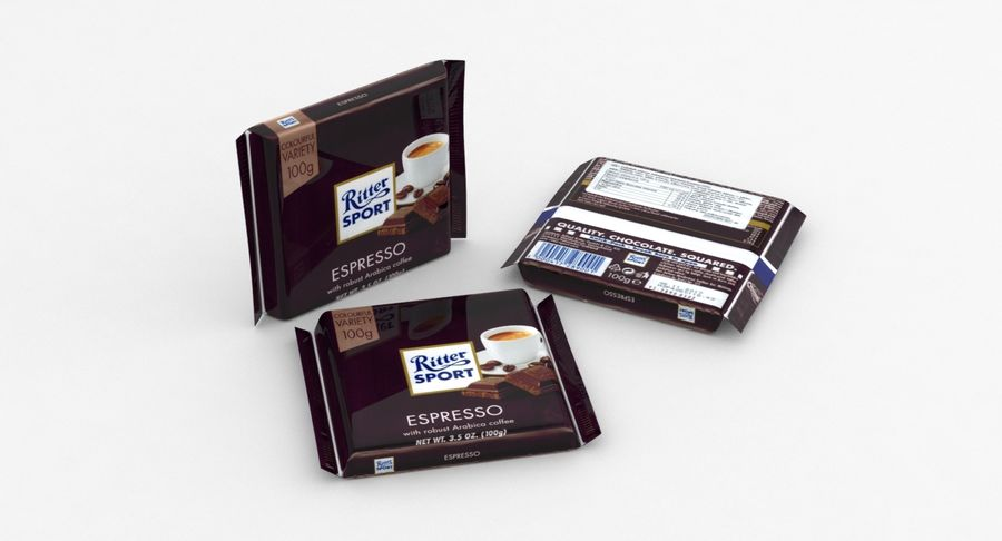 Ritter Sport Espresso royalty-free 3d model - Preview no. 2