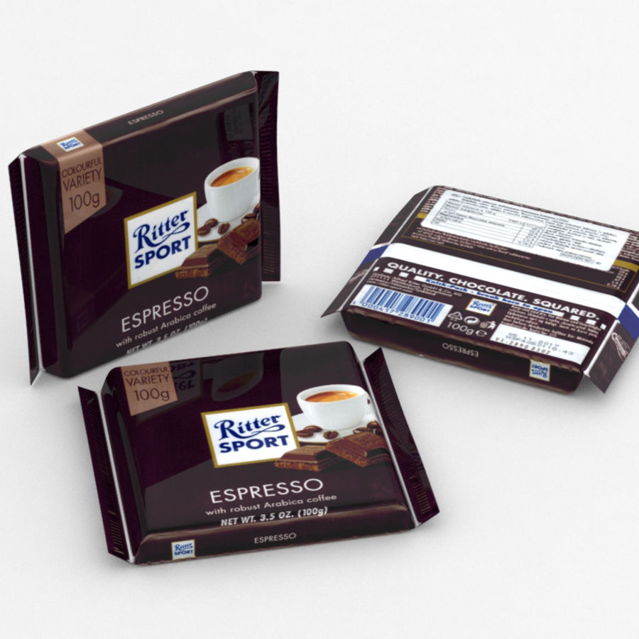 Ritter Sport Espresso royalty-free 3d model - Preview no. 1