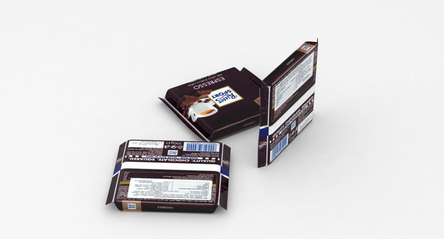 Ritter Sport Espresso royalty-free 3d model - Preview no. 4