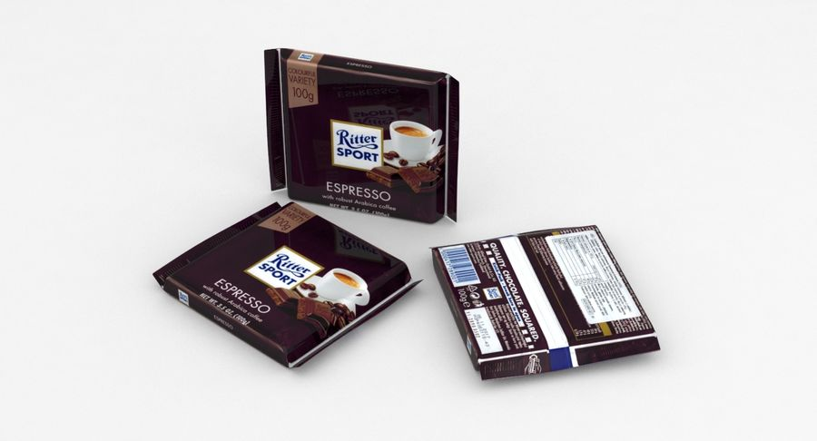 Ritter Sport Espresso royalty-free 3d model - Preview no. 3