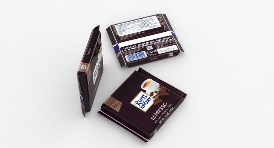 Ritter Sport Espresso royalty-free 3d model - Preview no. 6
