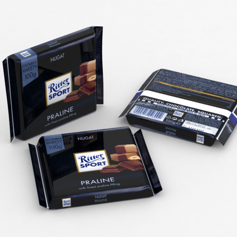 Ritter Sport Praline royalty-free 3d model - Preview no. 1