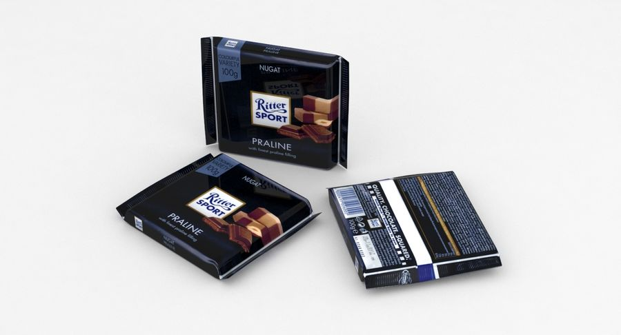 Ritter Sport Praline royalty-free 3d model - Preview no. 3