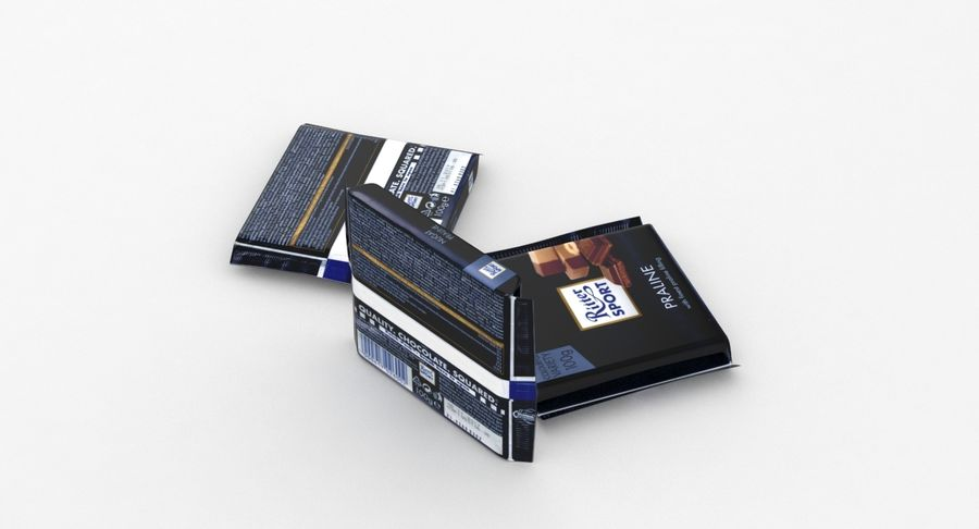 Ritter Sport Praline royalty-free 3d model - Preview no. 5