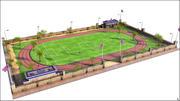 Futbol sahası 3d model