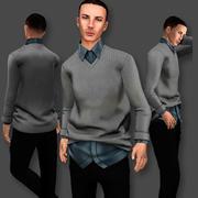 Male Sweater Set 3d model