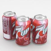 Beverage Can 7up Cherry 12fl oz 3d model