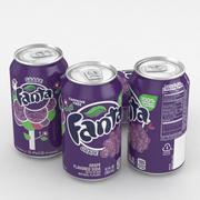 Beverage Can Fanta Grape 12fl oz 3d model
