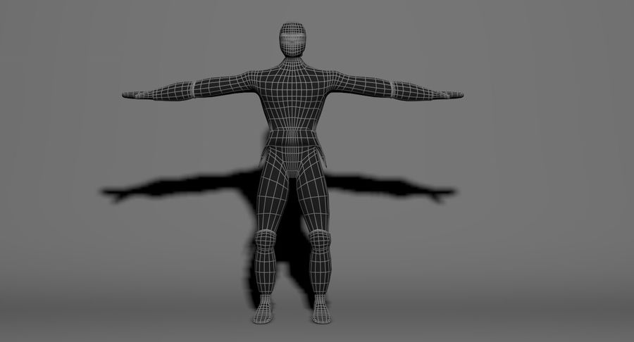 Ninja royalty-free 3d model - Preview no. 12