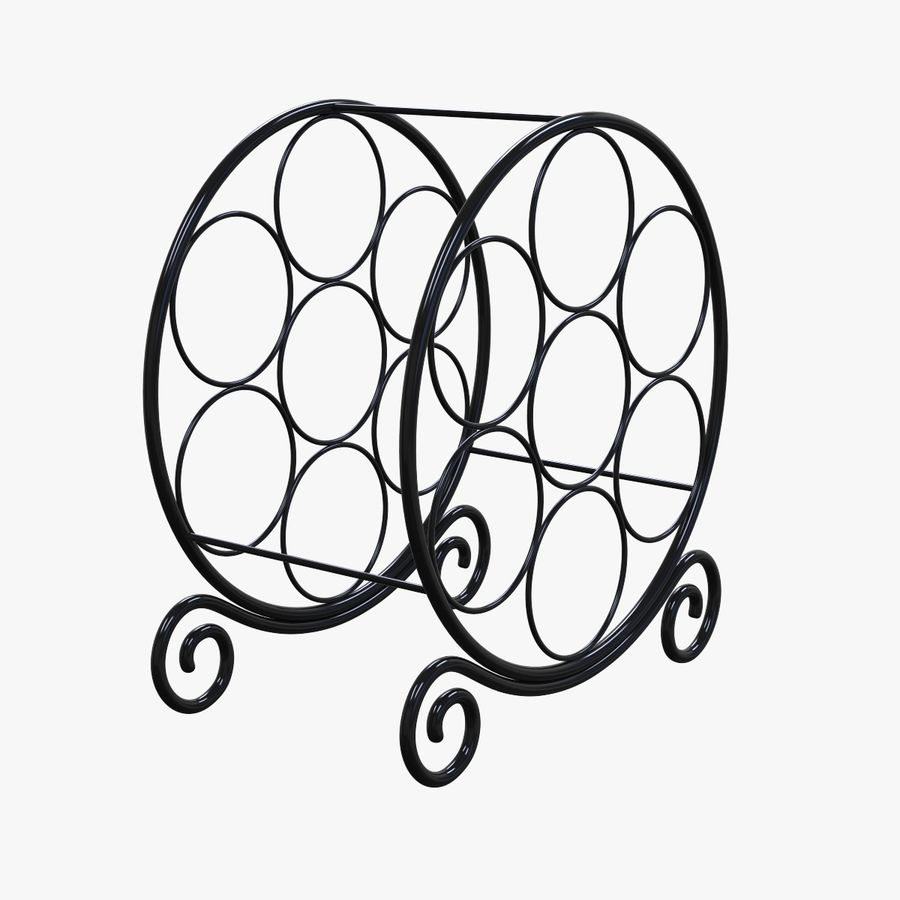Circular Wine Rack royalty-free 3d model - Preview no. 4