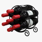 원형 와인 랙 3d model