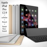 Apple iPad Pro 12.9 + Celular + Apple Pencil + Teclado Inteligente 3d model