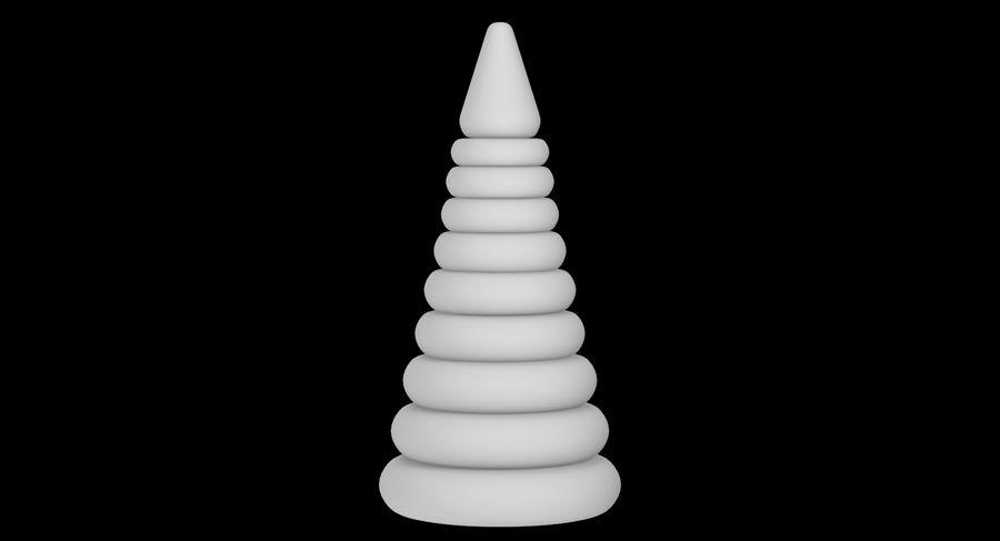 おもちゃのピラミッド royalty-free 3d model - Preview no. 12