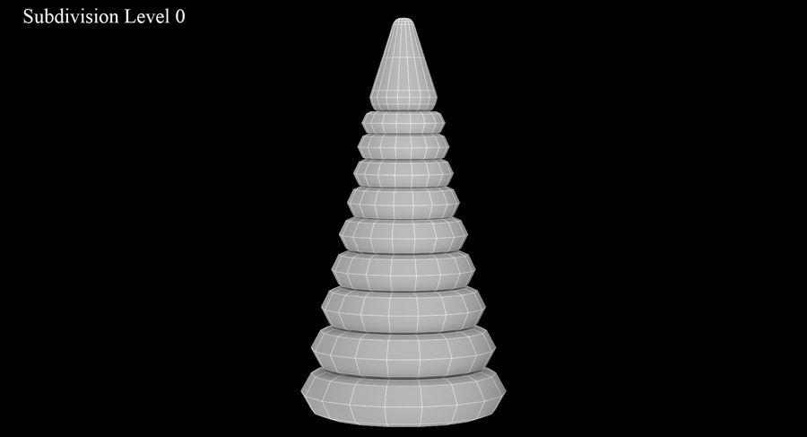 おもちゃのピラミッド royalty-free 3d model - Preview no. 10