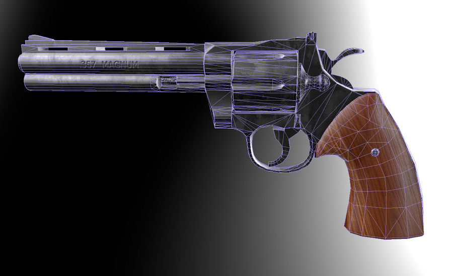 Magnum .357 royalty-free modelo 3d - Preview no. 7