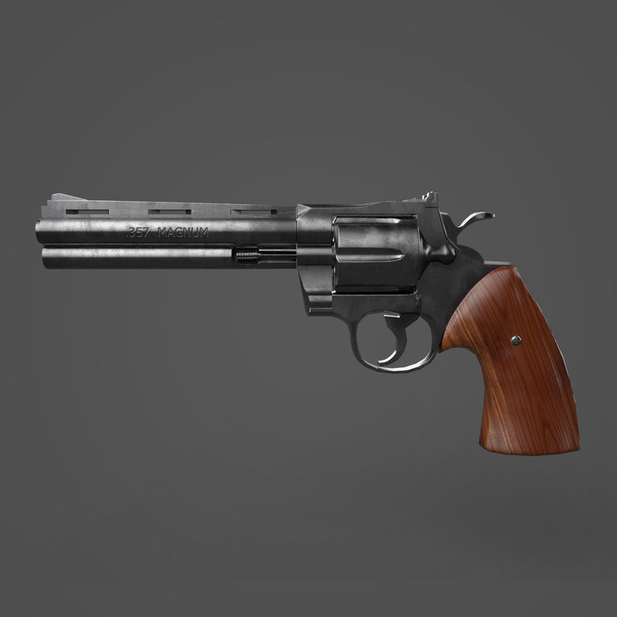 Magnum .357 royalty-free modelo 3d - Preview no. 1
