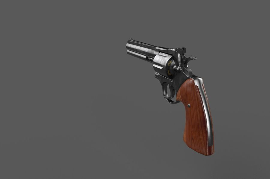 Magnum .357 royalty-free modelo 3d - Preview no. 3