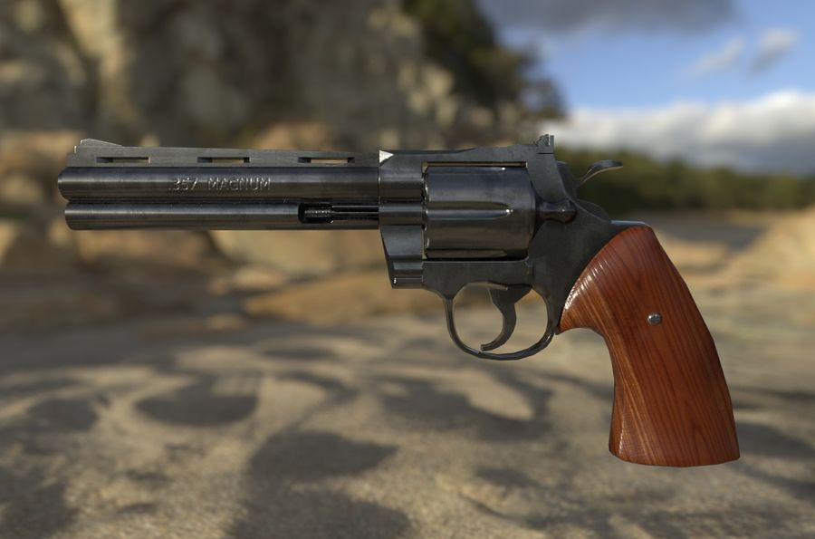Magnum .357 royalty-free modelo 3d - Preview no. 5