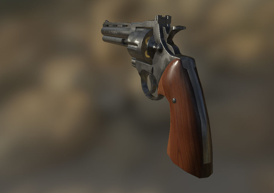 Magnum .357 royalty-free modelo 3d - Preview no. 6