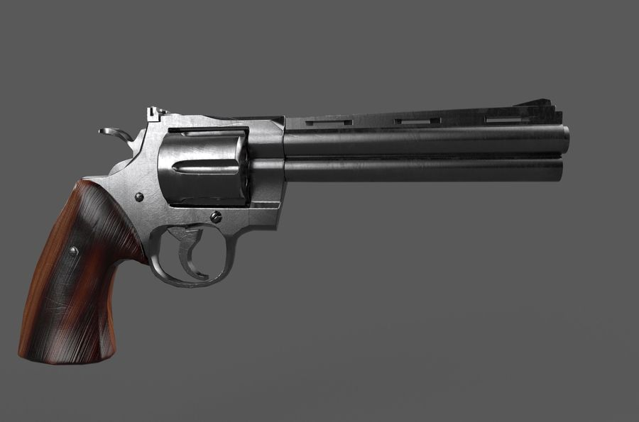 Magnum .357 royalty-free modelo 3d - Preview no. 4