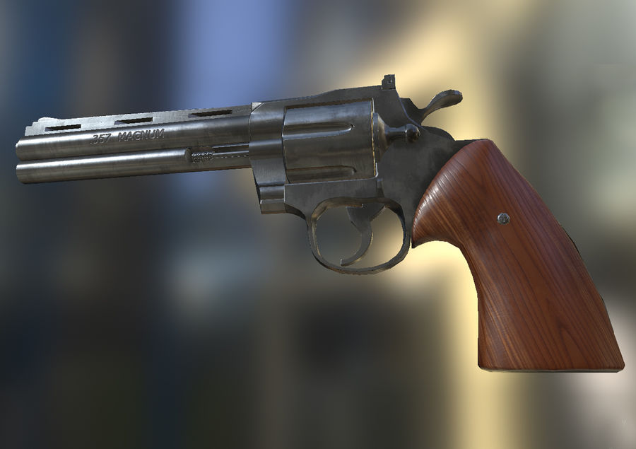 Magnum .357 royalty-free modelo 3d - Preview no. 8