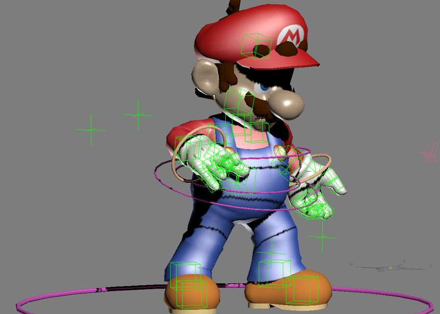 Mario Rigged royalty-free 3d model - Preview no. 2