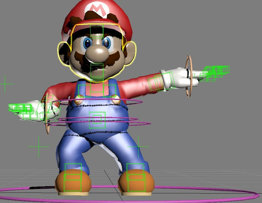 Mario Rigged royalty-free 3d model - Preview no. 5