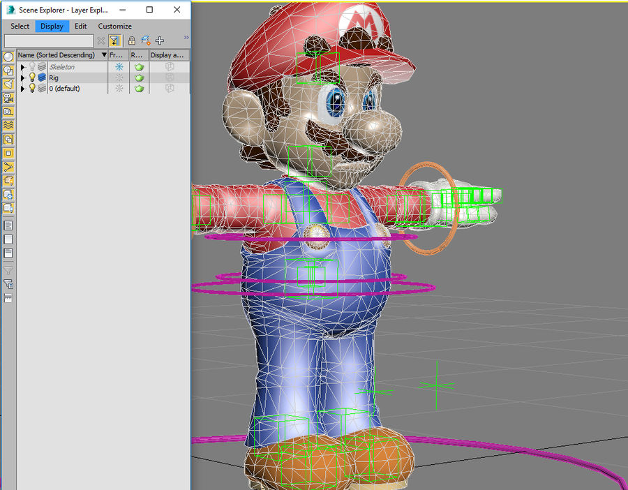 Mario Rigged royalty-free 3d model - Preview no. 4