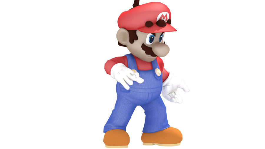 Mario Rigged royalty-free 3d model - Preview no. 1