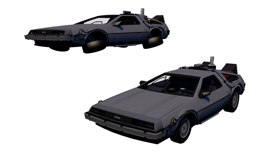 Back to the Future-Delorean royalty-free 3d model - Preview no. 1