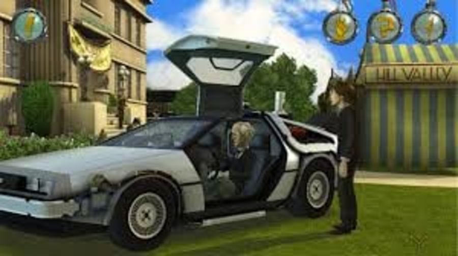 Back to the Future-Delorean royalty-free 3d model - Preview no. 4
