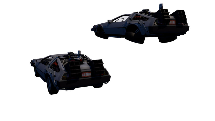 Back to the Future-Delorean royalty-free 3d model - Preview no. 2