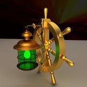 Lampa kierownicy statku 3d model
