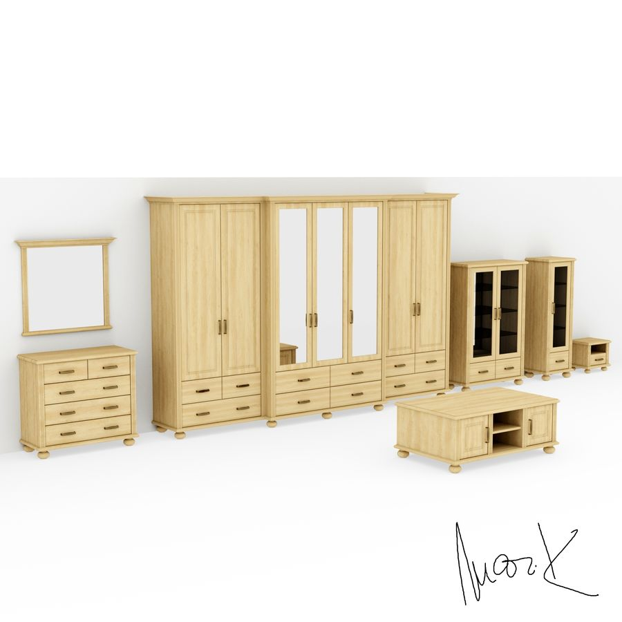 Living room, furniture royalty-free 3d model - Preview no. 2