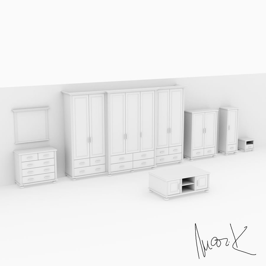 Living room, furniture royalty-free 3d model - Preview no. 8