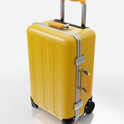 Rolling Travel Suitcase 3d model
