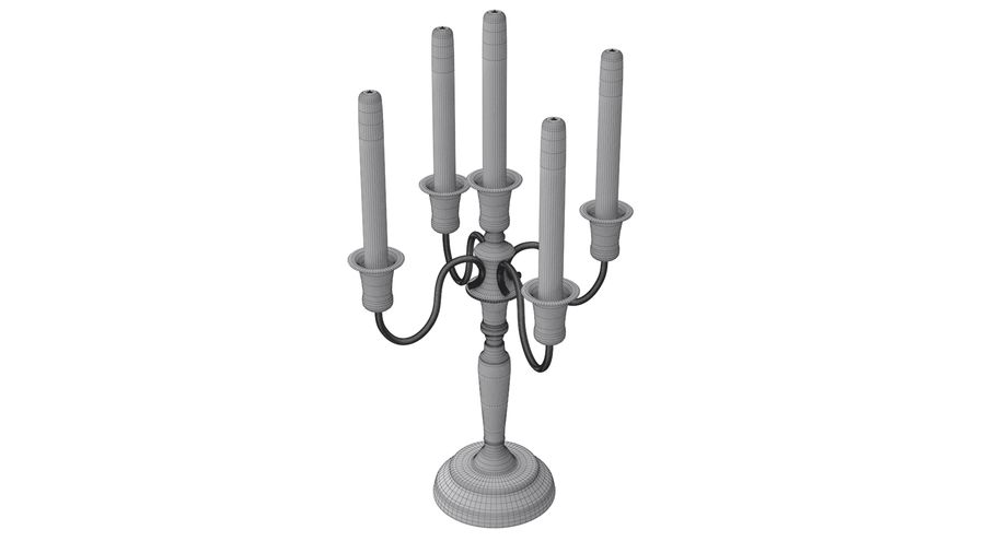 candelabro - candelabro royalty-free 3d model - Preview no. 3