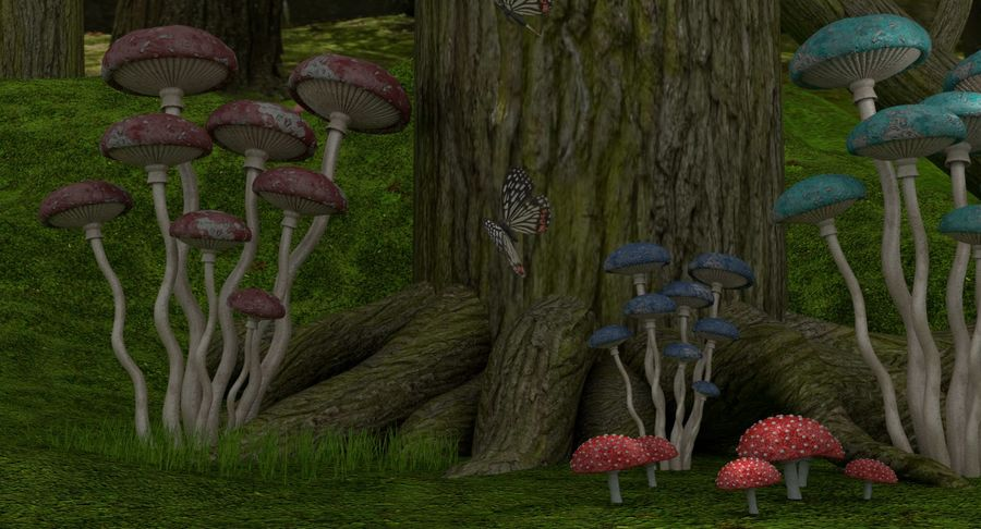 fantasy-forest royalty-free 3d model - Preview no. 5