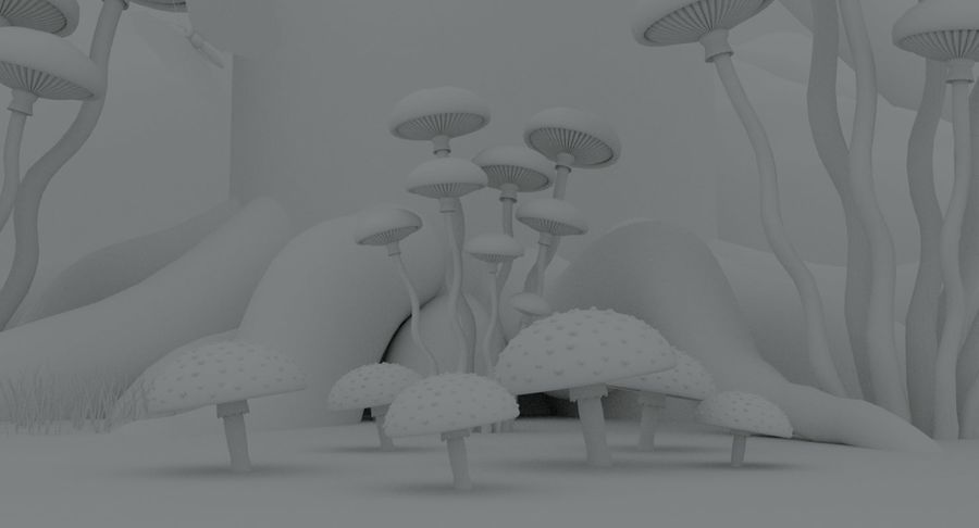 fantasy-forest royalty-free 3d model - Preview no. 10