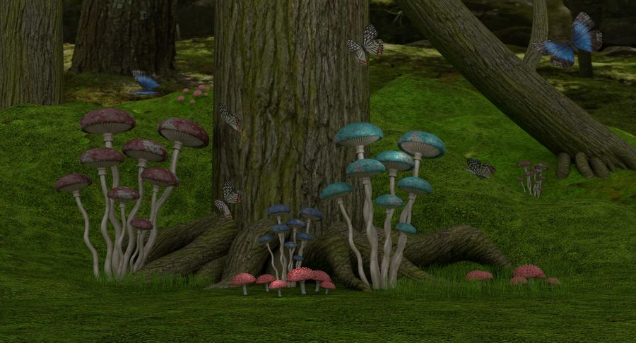 fantasy-forest royalty-free 3d model - Preview no. 4